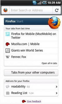 Firefox 4 for Mobile